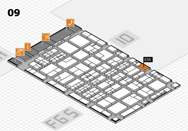 MEDICA 2016 hall map (Hall 9): stand E56