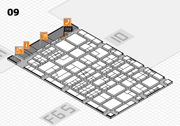 MEDICA 2016 hall map (Hall 9): stand D02