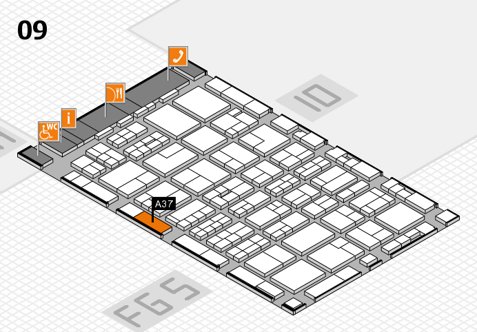 MEDICA 2016 hall map (Hall 9): stand A37