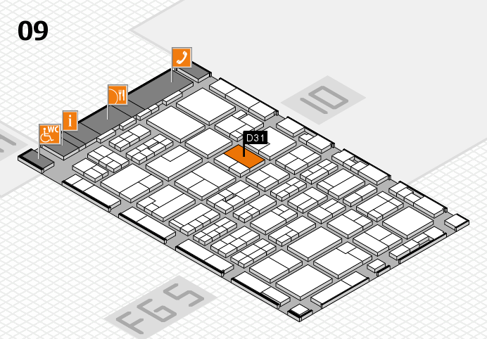 MEDICA 2016 hall map (Hall 9): stand D31