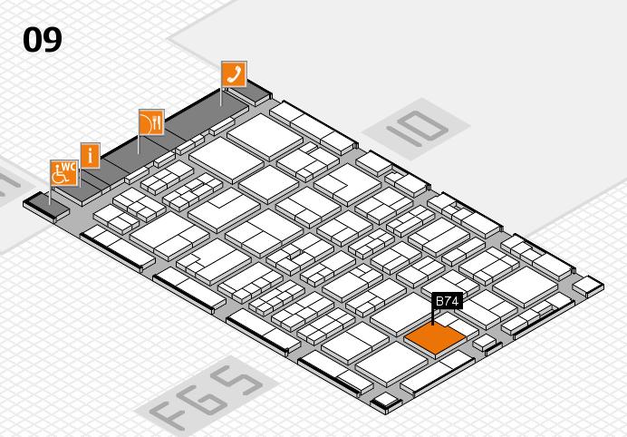 MEDICA 2016 Hallenplan (Halle 9): Stand B74