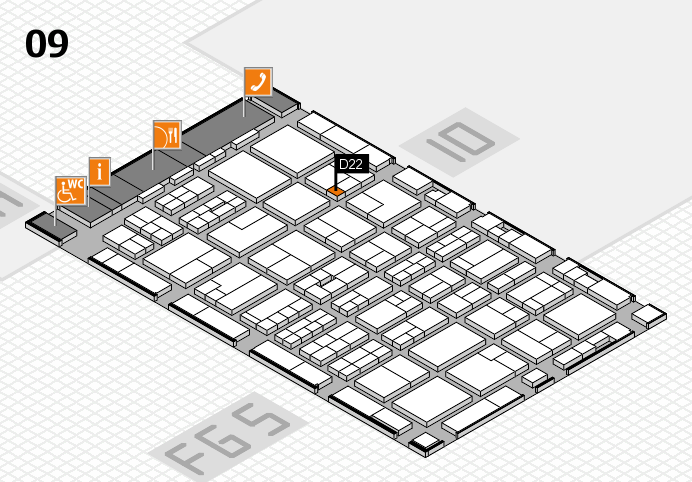 MEDICA 2016 hall map (Hall 9): stand D22