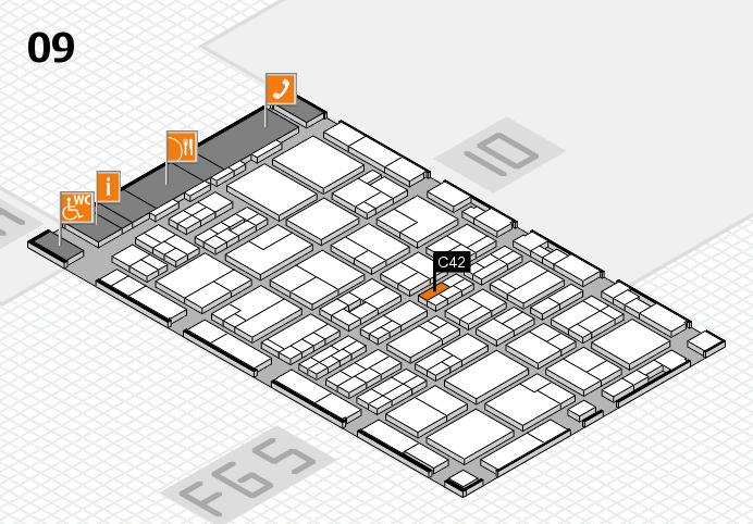 MEDICA 2016 hall map (Hall 9): stand C42