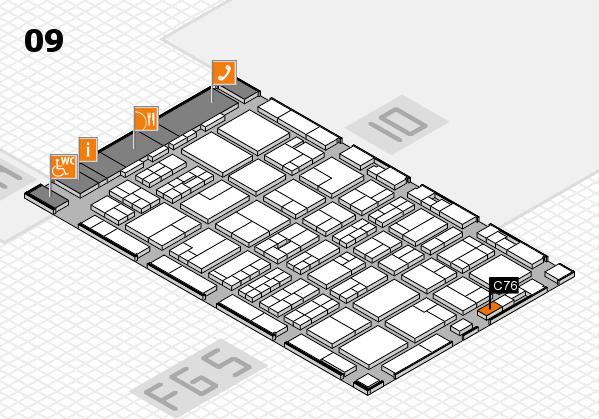MEDICA 2016 hall map (Hall 9): stand C76