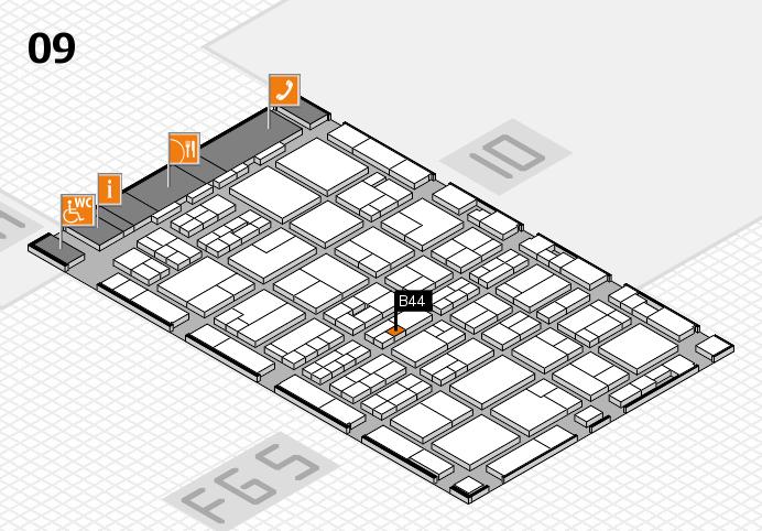 MEDICA 2016 hall map (Hall 9): stand B44
