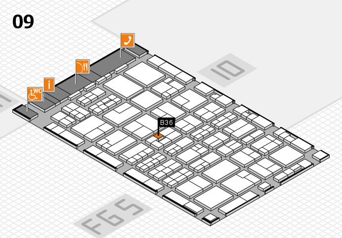MEDICA 2016 hall map (Hall 9): stand B36