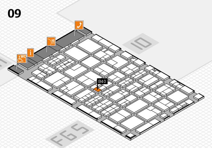 MEDICA 2016 hall map (Hall 9): stand B40