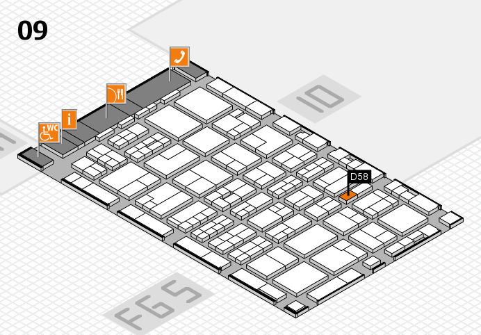 MEDICA 2016 hall map (Hall 9): stand D58