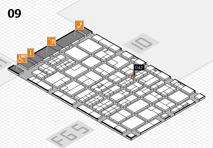 MEDICA 2016 hall map (Hall 9): stand D42