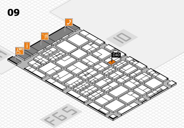 MEDICA 2016 hall map (Hall 9): stand D40