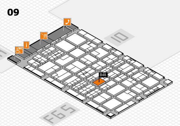 MEDICA 2016 hall map (Hall 9): stand B48