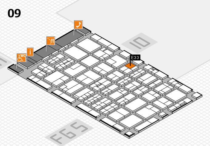 MEDICA 2016 hall map (Hall 9): stand E33