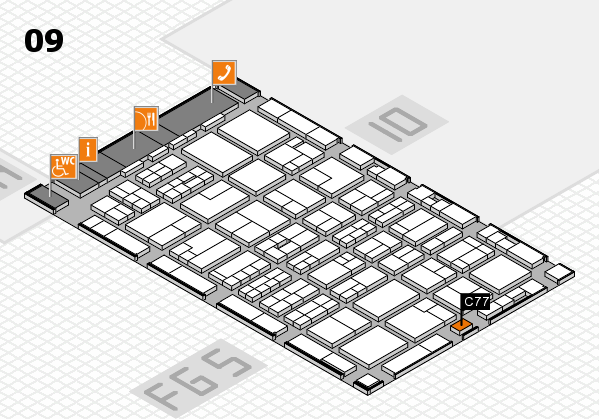 MEDICA 2016 hall map (Hall 9): stand C77