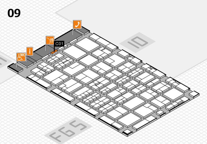 MEDICA 2016 hall map (Hall 9): stand C01