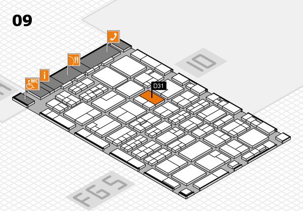 MEDICA 2016 hall map (Hall 9): stand D31