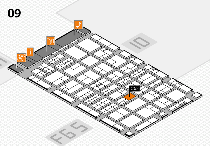 MEDICA 2016 hall map (Hall 9): stand C53