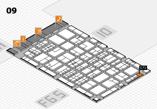 MEDICA 2016 hall map (Hall 9): stand E73