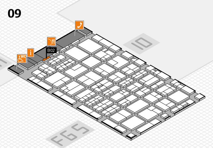 MEDICA 2016 hall map (Hall 9): stand B02
