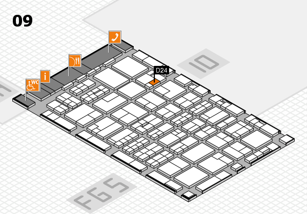 MEDICA 2016 hall map (Hall 9): stand D24