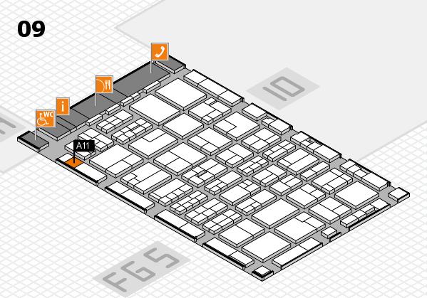 MEDICA 2016 hall map (Hall 9): stand A11