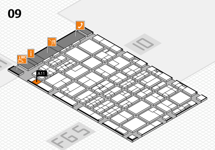 MEDICA 2016 hall map (Hall 9): stand A11