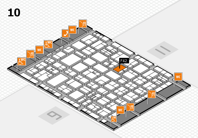 MEDICA 2016 hall map (Hall 10): stand F42