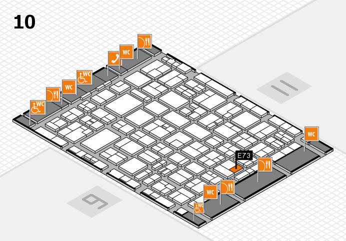 MEDICA 2016 hall map (Hall 10): stand E73