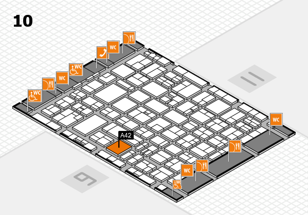 MEDICA 2016 hall map (Hall 10): stand A42