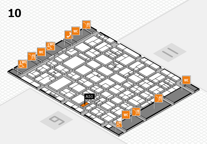 MEDICA 2016 hall map (Hall 10): stand A50