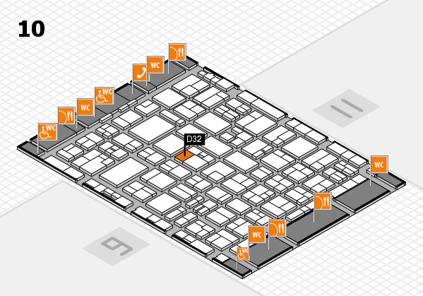 MEDICA 2016 hall map (Hall 10): stand D32