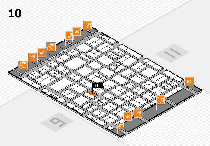 MEDICA 2016 hall map (Hall 10): stand B42