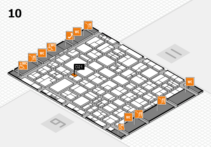 MEDICA 2016 hall map (Hall 10): stand D21