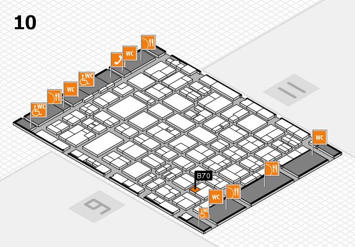 MEDICA 2016 hall map (Hall 10): stand B70
