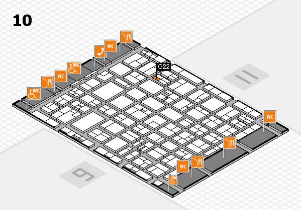 MEDICA 2016 hall map (Hall 10): stand G22