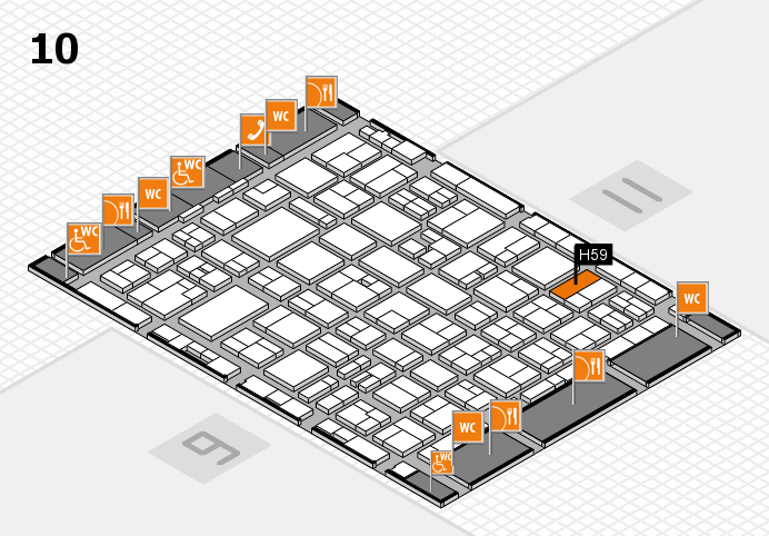 MEDICA 2016 hall map (Hall 10): stand H59