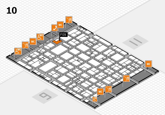 MEDICA 2016 hall map (Hall 10): stand F09