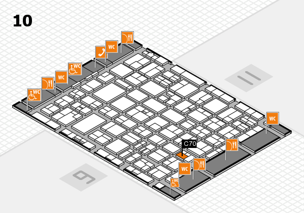 MEDICA 2016 hall map (Hall 10): stand C70