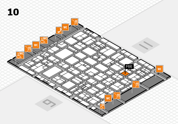 MEDICA 2016 hall map (Hall 10): stand F66