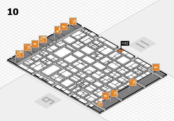 MEDICA 2016 hall map (Hall 10): stand H42