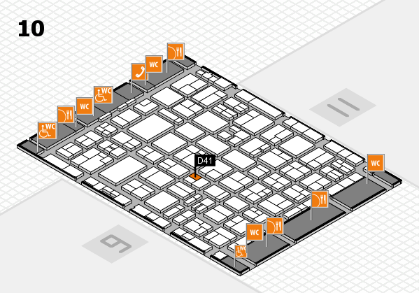 MEDICA 2016 hall map (Hall 10): stand D41