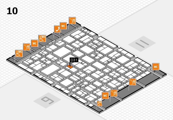 MEDICA 2016 hall map (Hall 10): stand D31
