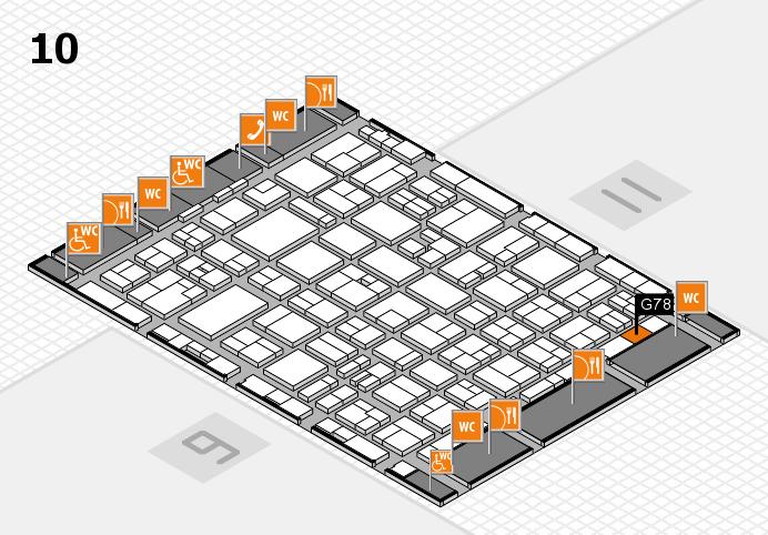 MEDICA 2016 hall map (Hall 10): stand G78