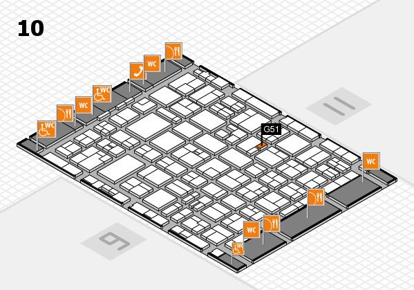 MEDICA 2016 hall map (Hall 10): stand G51