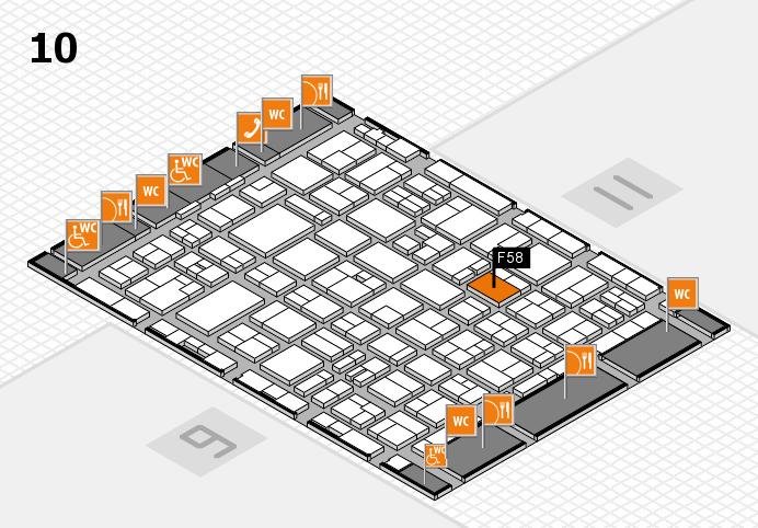 MEDICA 2016 hall map (Hall 10): stand F58