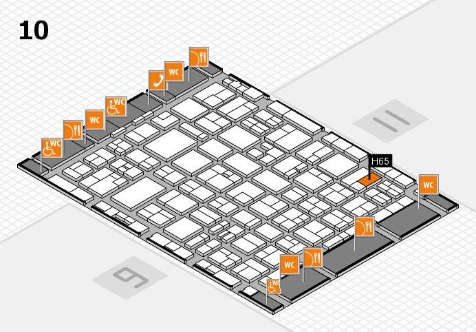 MEDICA 2016 hall map (Hall 10): stand H65