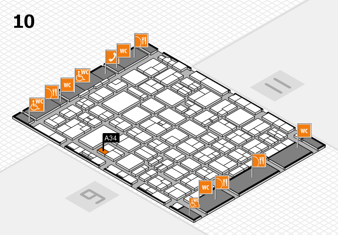 MEDICA 2016 hall map (Hall 10): stand A34