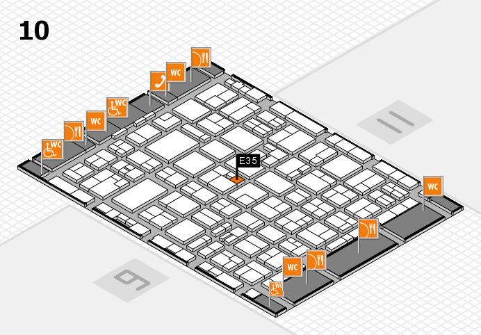 MEDICA 2016 hall map (Hall 10): stand E35