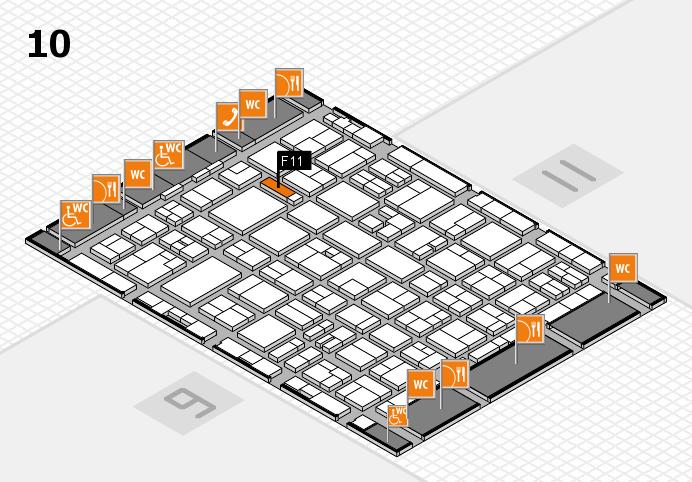 MEDICA 2016 hall map (Hall 10): stand F11