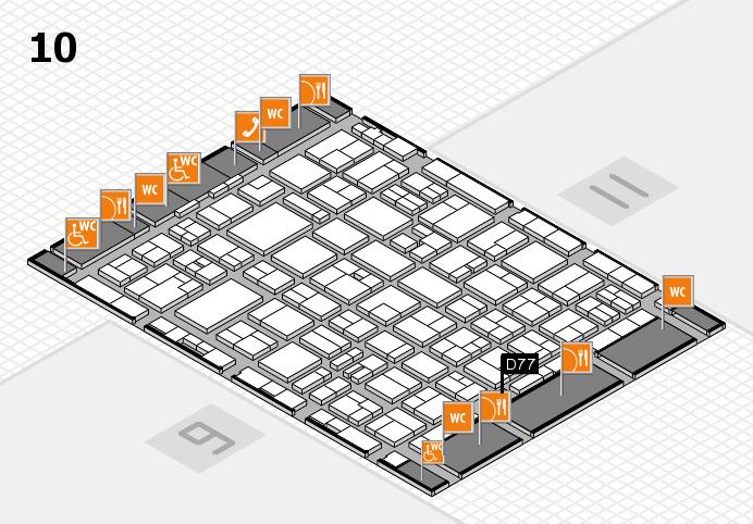 MEDICA 2016 hall map (Hall 10): stand D77