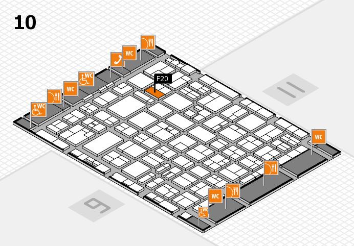MEDICA 2016 hall map (Hall 10): stand F20